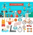 Fitness Banner Horizontal vector image vector image