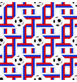football banner russian colors seamless pattern vector image vector image