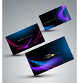 futuristic set of cards vector image vector image