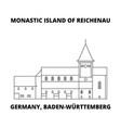 germany baden-wurttemberg monastic island of vector image vector image