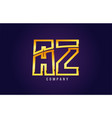 gold golden alphabet letter az a z logo vector image vector image