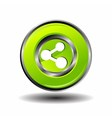 Green Glossy Share button vector image vector image