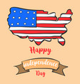 greeting card independence day style collection vector image vector image