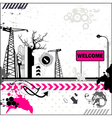 Grunge welcome card vector image vector image