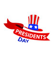 happy presidents day vector image vector image