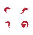 head dragon vector image