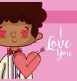i love you card wedding card vector image vector image