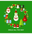 Jingle All The Way Postcard vector image vector image