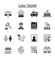 law justice icon set graphic design vector image