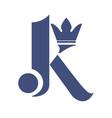 Letter k with crown logo design