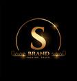 letter s brand logo concept in golden style vector image