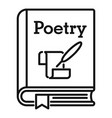 literary poetry book icon outline style vector image vector image