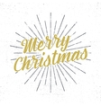 Merry Christmas lettering Holiday typography vector image vector image