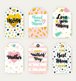 mothers day hipster trendy gift labels vector image vector image