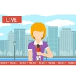 News reporter woman vector image