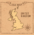 old style uk map vector image