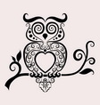 Owl ornament vector image vector image