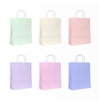 paper bag set isolated vector image vector image
