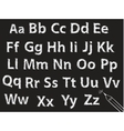 Pencil or charcoal chalk alphabet letter set vector | Price: 1 Credit (USD $1)