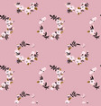 pink flower wreath seamless pattern vector image vector image