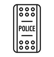 police shield icon outline style vector image