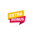 Red and yellow extra bonus isolated icon on