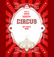 red circus poster vector image vector image