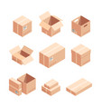 relocation carton boxes isometric 3d vector image vector image