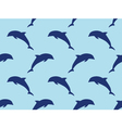 Seamless dolphins pattern vector image vector image