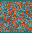 seamless ethnic pattern red and marine colors vector image vector image