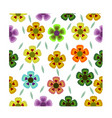seamless pattern flower design with different vector image
