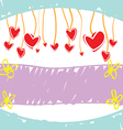 sketch drawing love banner vector image vector image
