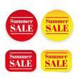 summer sale sticker label vector image vector image