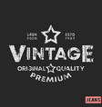 t-shirt print design vintage stamp printing and vector image vector image