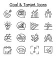 target purpose aim self improvement development vector image vector image