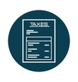 taxes paper receipt icon vector image vector image