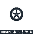 Tire icon flat vector image vector image