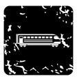 Train locomotive icon grunge style vector image