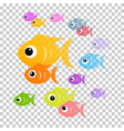 Transparent Colorful Abstract Fish vector image vector image