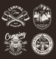 vintage camping season badges vector image