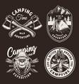 vintage camping season badges vector image vector image