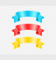 vintage color ribbons isolated on transparent vector image