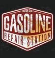 vintage gasoline motor oil t-shirt printing vector image