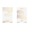 white gold luxury invitation for vip event vector image vector image