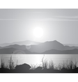 Landscape with sunset over sea vector image