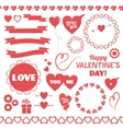 Set of elements for Valentines Day vector image
