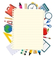 back to school theme background vector image