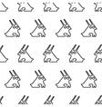 black line graphic rabbit regular seamless pattern vector image