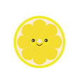 half of lemon icon isolated object lemon logo vector image