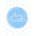 merry christmas lettering text into winter vector image